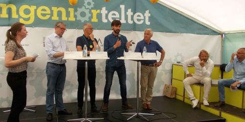 Debat om grønne job hos Ingeniørforeningen IDA på Folkemødet 2017