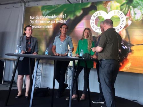 Debat om naturdilemmaer hos Landbrug & Fødevarer under Folkemødet 2018.Foto: Landbrug & Fødevarer